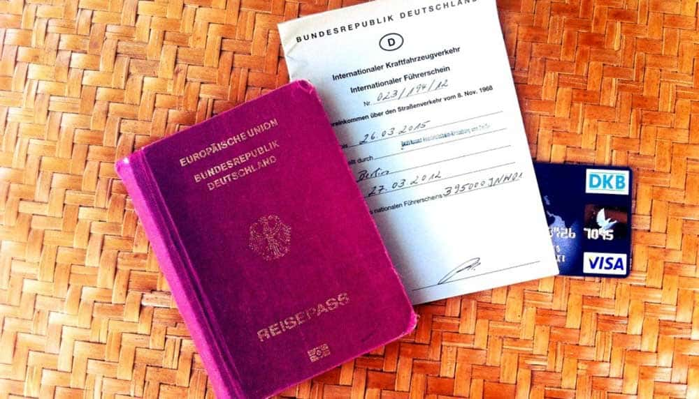 backups reisedokumente