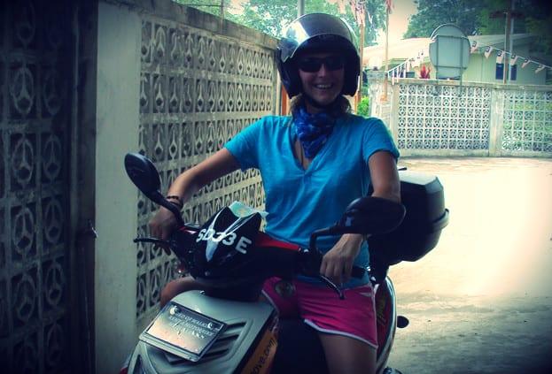 Roller fahren in Südostasien