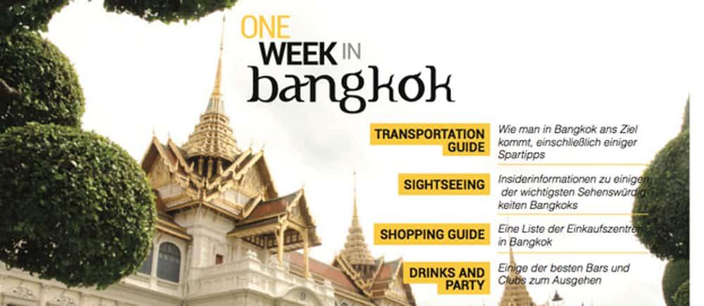 ein woche bangkok