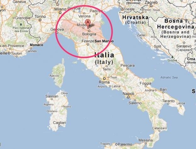 map emilia romagna