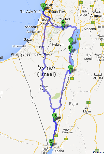 route israel