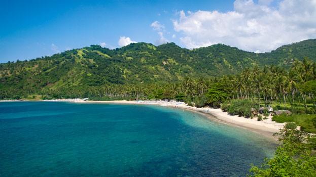 Lombok - Ausblick auf Pandanan Beach und Umgebung