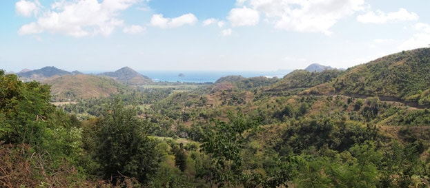 Lombok - Viewpoint auf dem Selong Belanak Hill