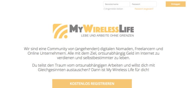 My Wireless Life   Online Community für digitale Nomaden und Webworker