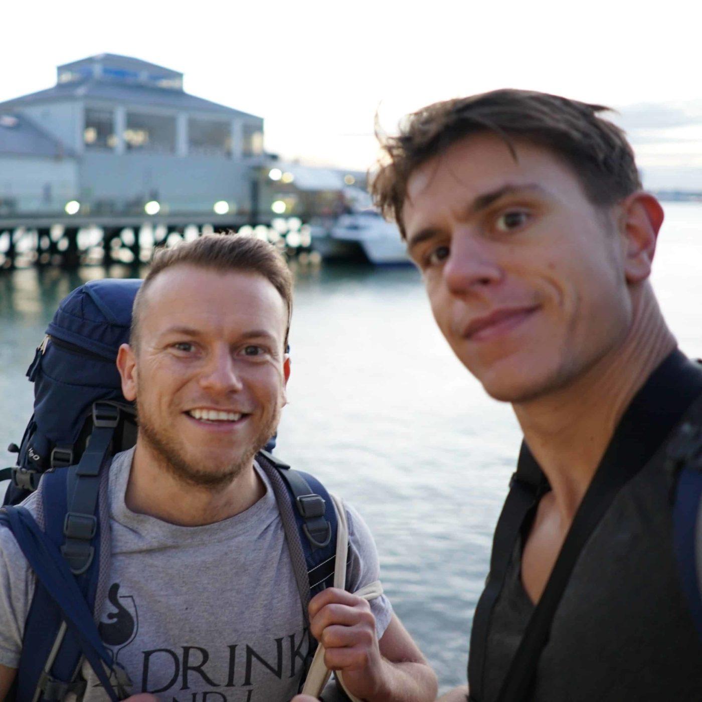 Die besten Reise-Kreditkarten – Selfie mit Arne und Mauricio