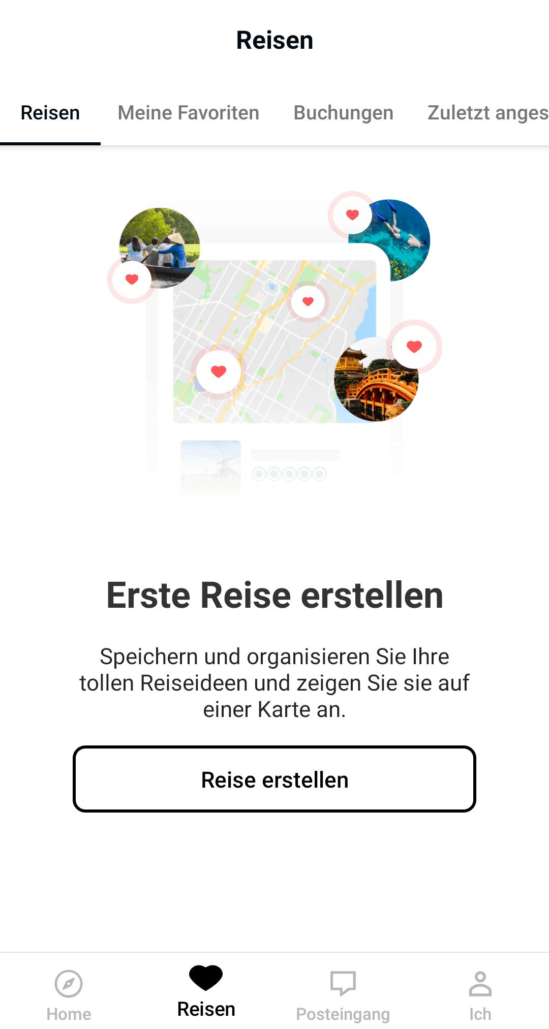 Reise Apps Trip Advisor Reise erstellen