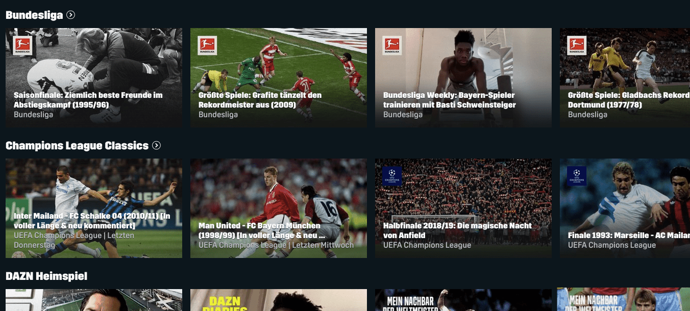 DAZN Sport-Streaming-Dienst –