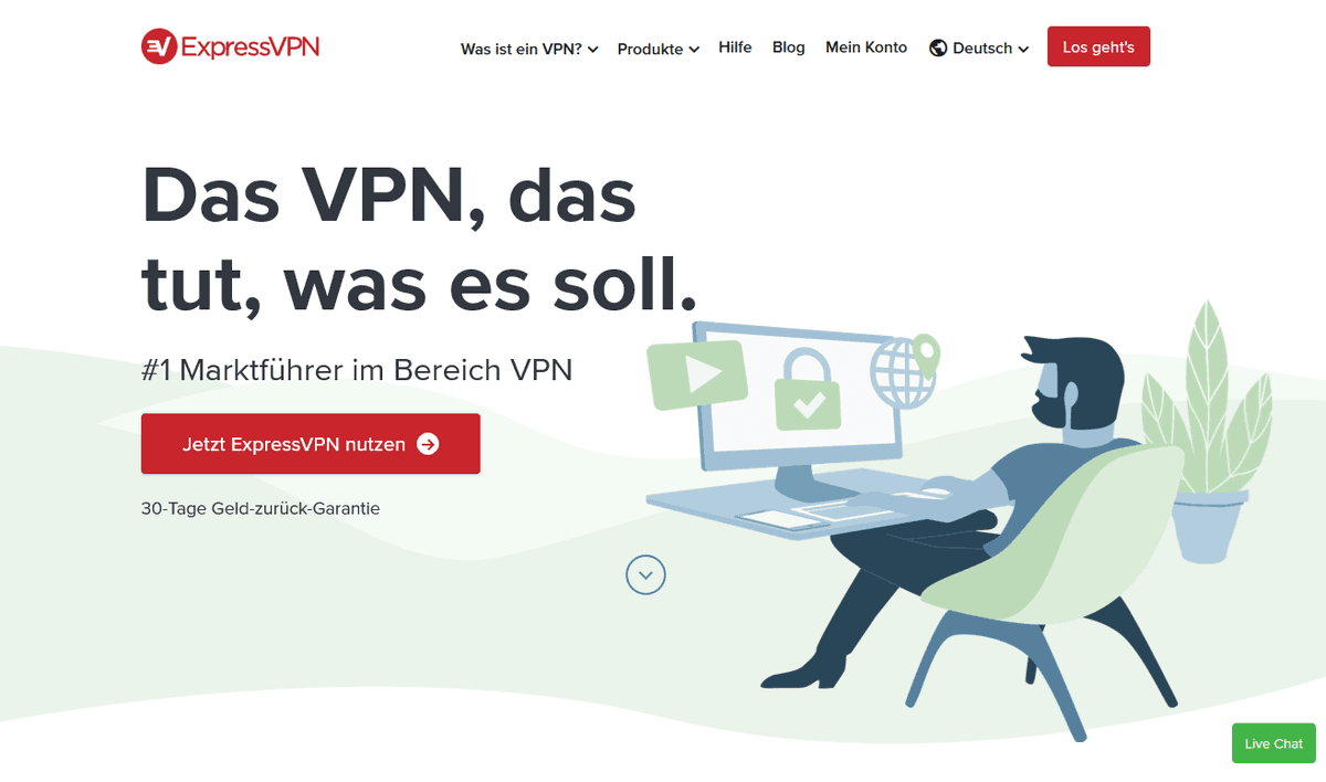 ExpressVPN Homepage April 2020