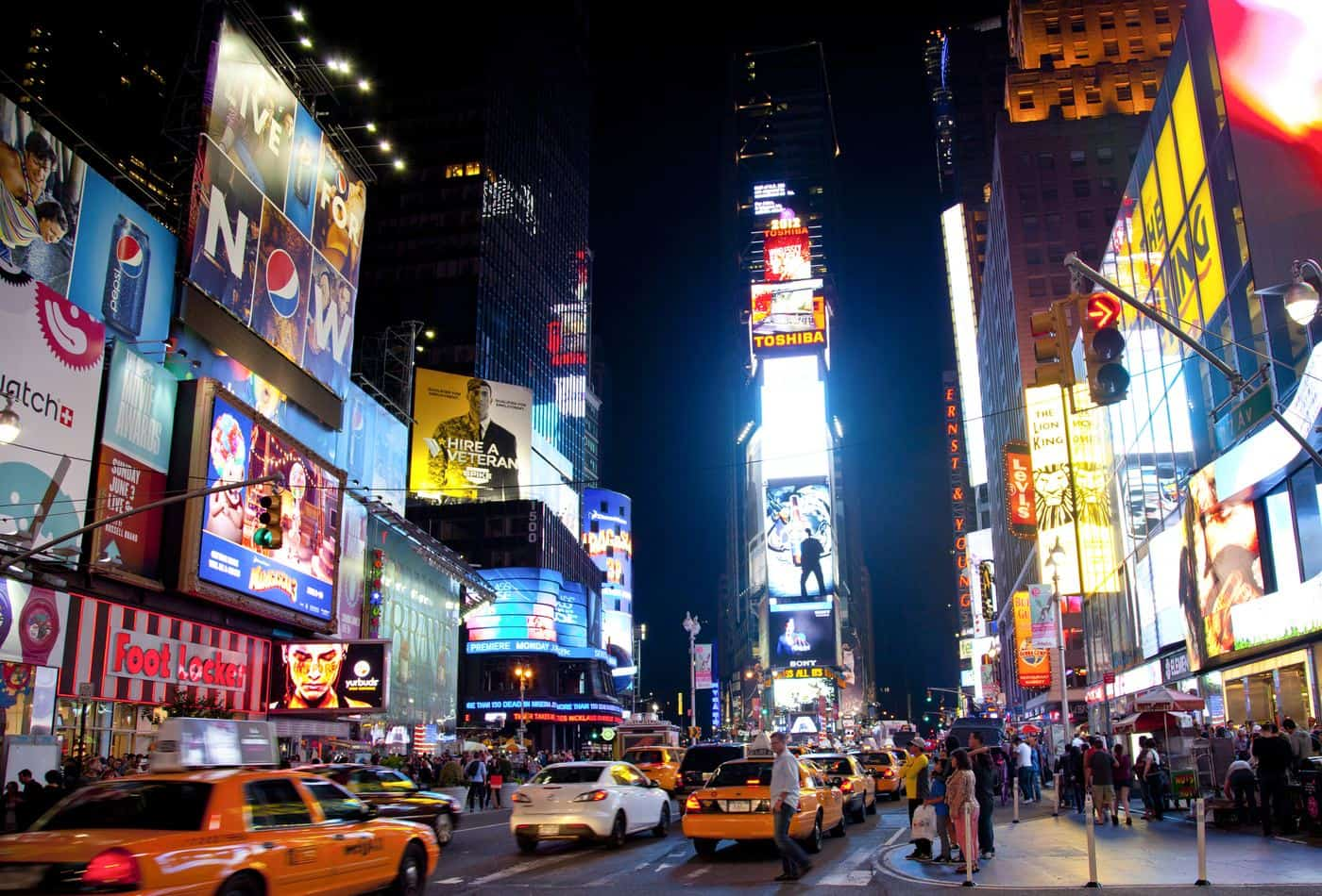 New York City – Abendszene am Times Square