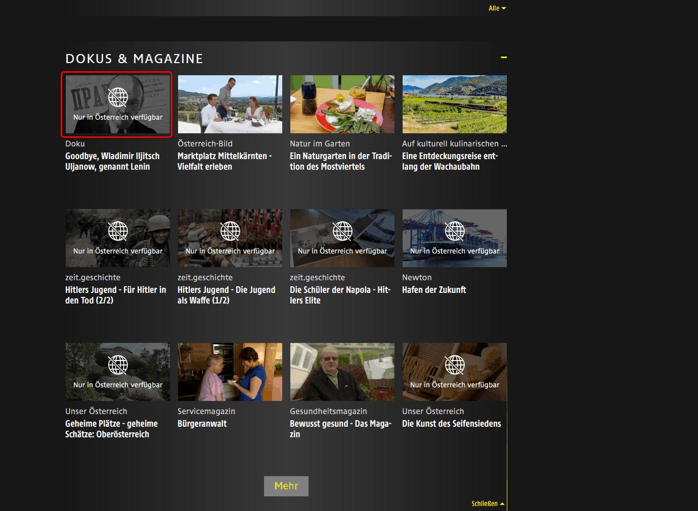 ORF-Livestream-Geblocking-Fehlermeldung