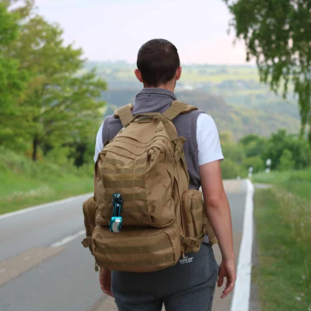 Der Brandit US Cooper Backpack im Einsatz untwerwegs