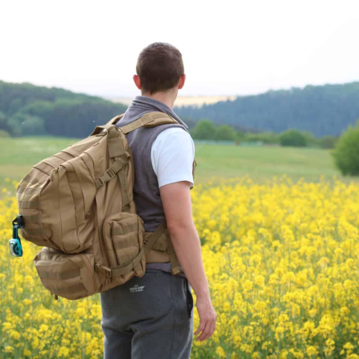 Brandit US Cooper Backpack im Einsatz unterwegs