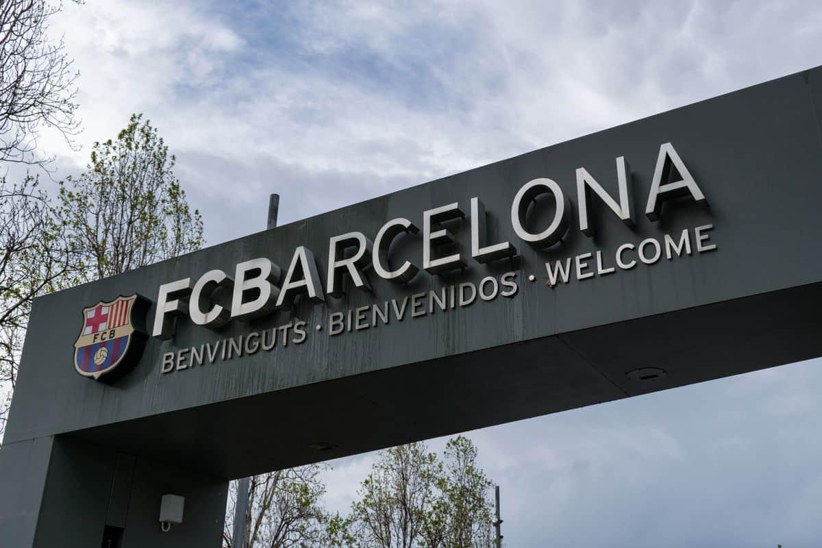 Eingang zum Camp Nou Fußballstadium