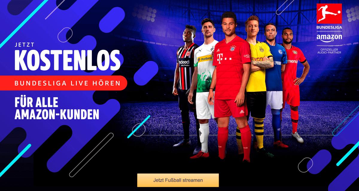 Bundesliga im Ausland – Screenshot der Bundesliga-Audiostream-Seite von Amazon