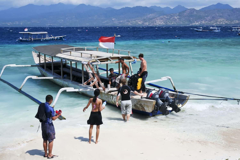 Lombok Reise-Tipps – Gilis Taucherboot