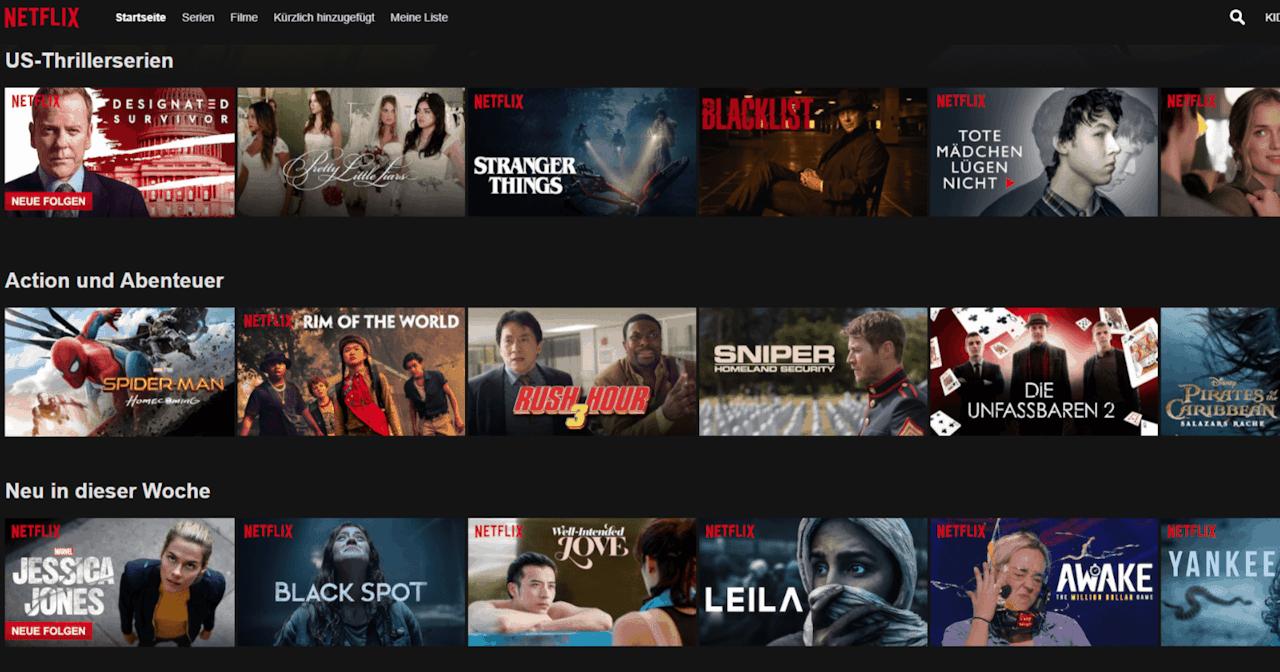 Netflix VPN Sperre Umgehen USA Bibliothek
