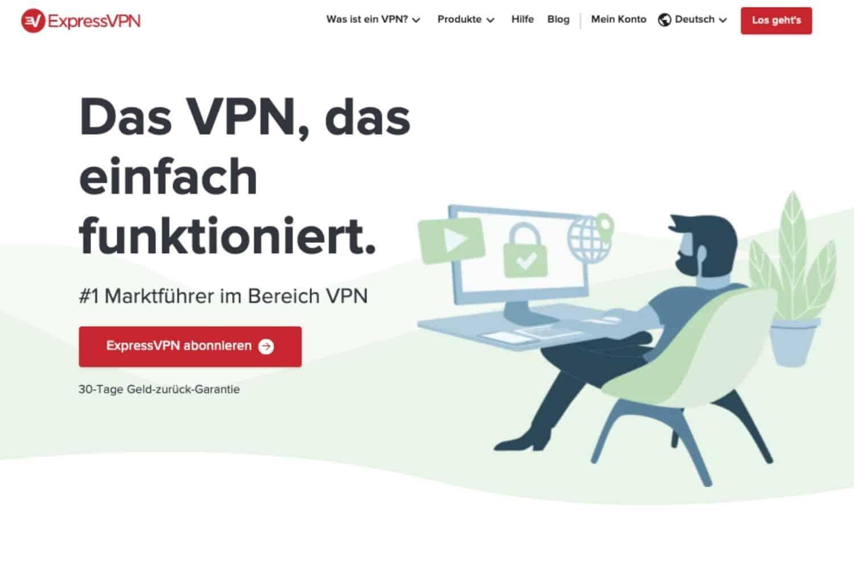 ExpressVPN Webseite