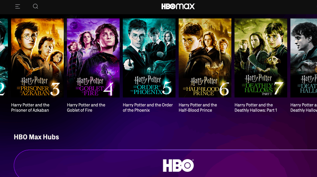 Harry Potter Netflix HBO Max