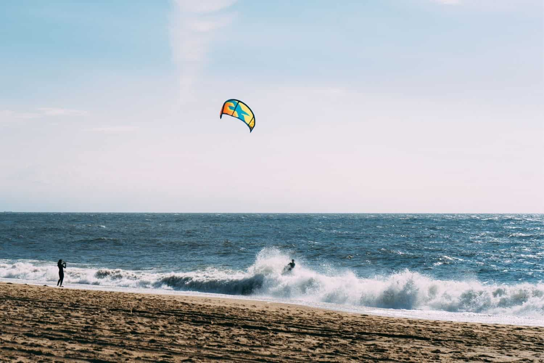Kurzurlaub Nordsee Kite Surfer