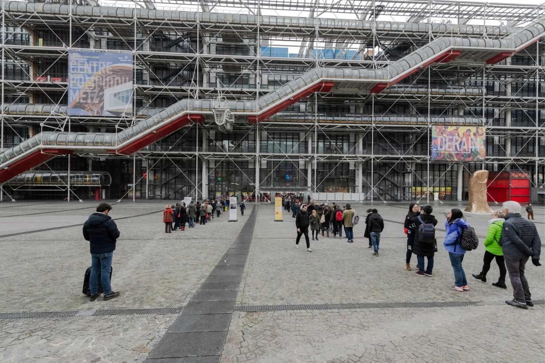 Paris Sehenswuerdigkeiten Centre Pompidou