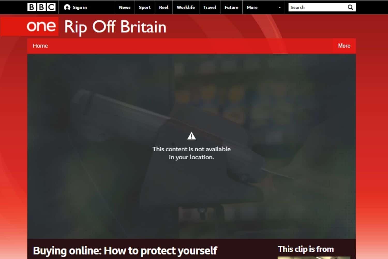 VPN England BBC Fehler