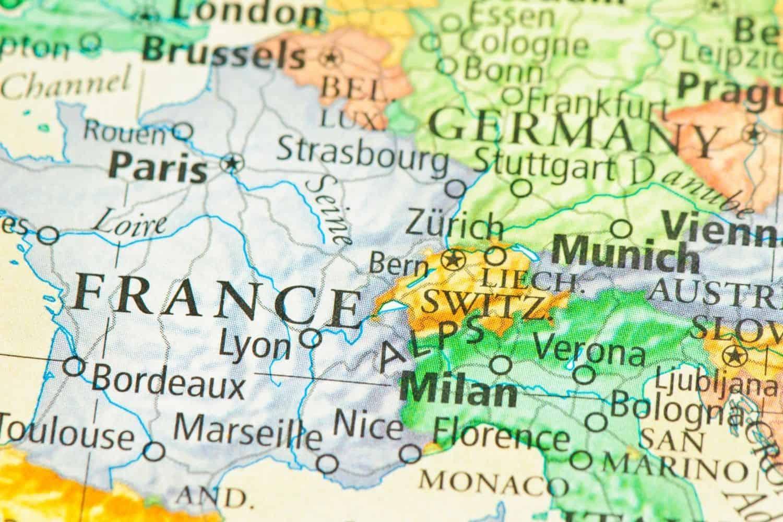 Frankreich Geografisch