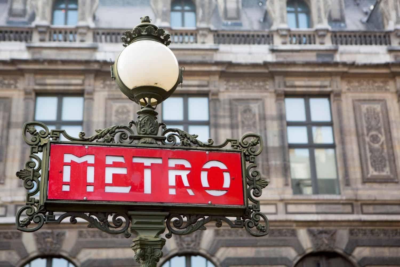Frankreich Metro-Schild