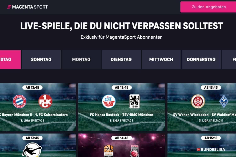 Magenta Sport Fussballspiele