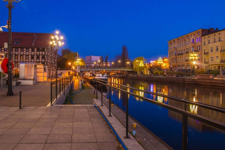 Polnische Ostsee Danziger Altstadtkanal am Abend