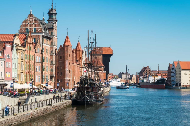 Polnische Ostsee Schoene Aussicht auf Danzig