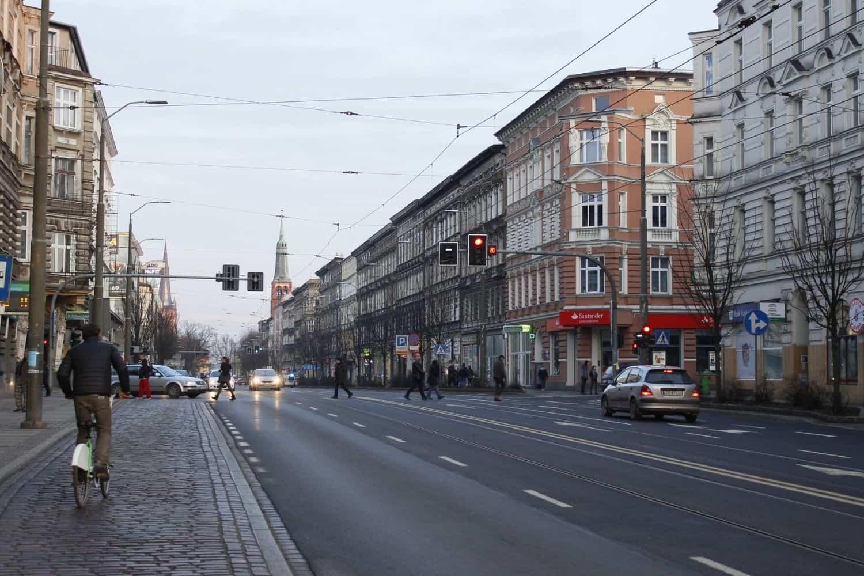 Polnische Ostsee Strassenansicht von Stettin