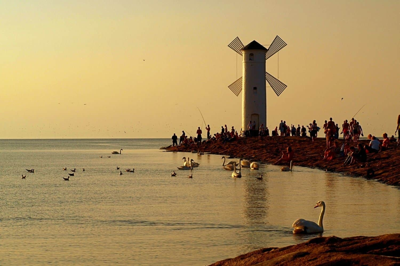 Polnische Ostsee Sellenbrecher in Swinoujscie Misdroy