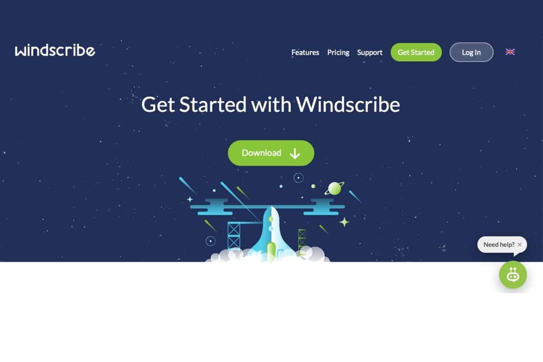 Windscribe Webseite