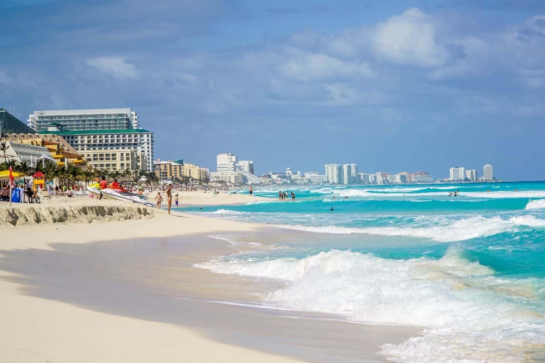 Yucatan Cancun Strand Studenten