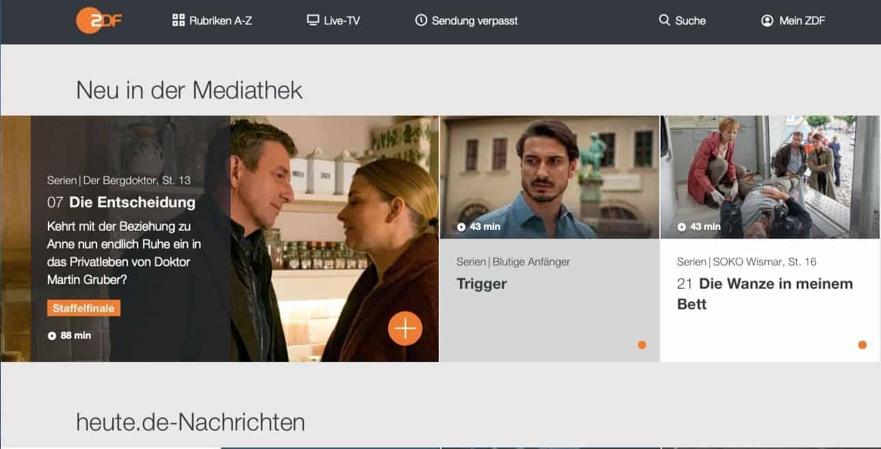 ExpressVPN ZDF Mediathek