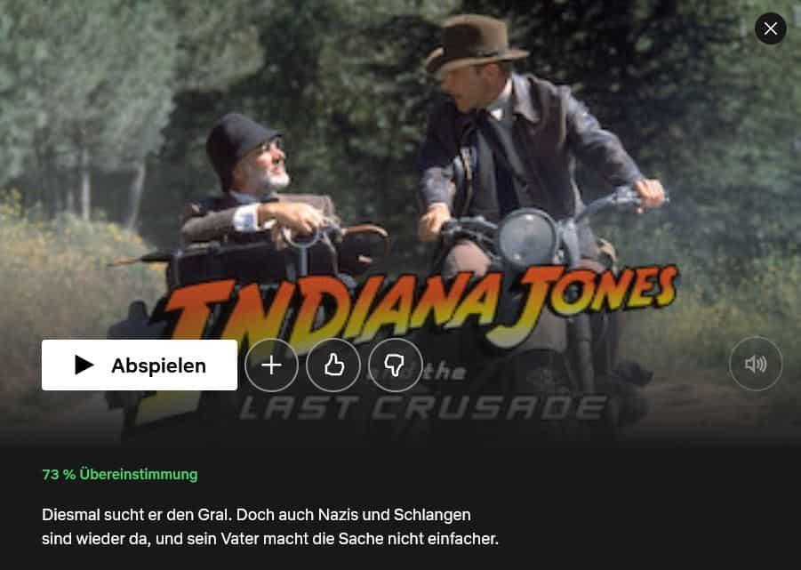 Netflix Indiana Jones and the Last Crusade