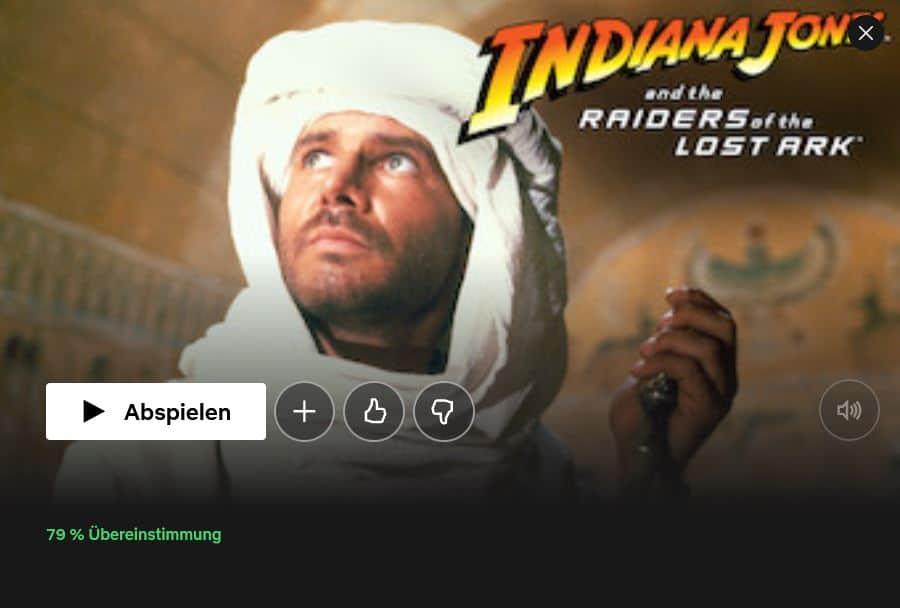Netflix Indiana Jones Raiders of the Lost Ark
