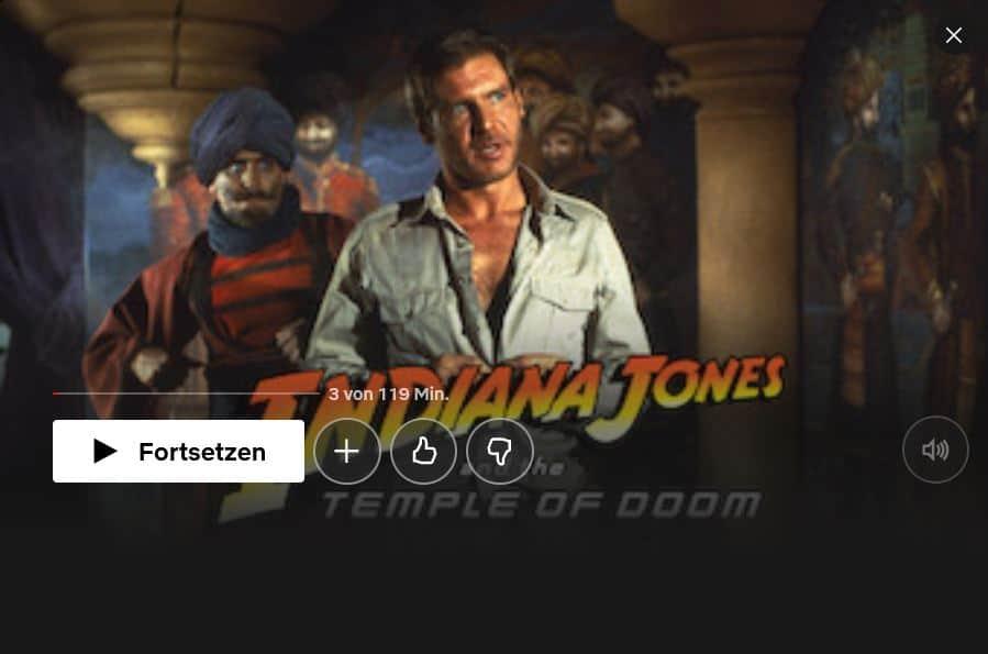 Netflix Indiana Jones Temple of Doom