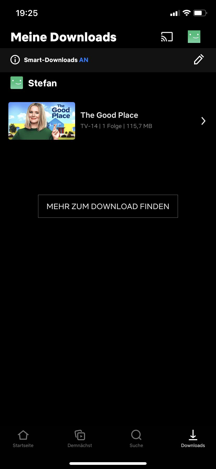 Netflix App Download Bereich