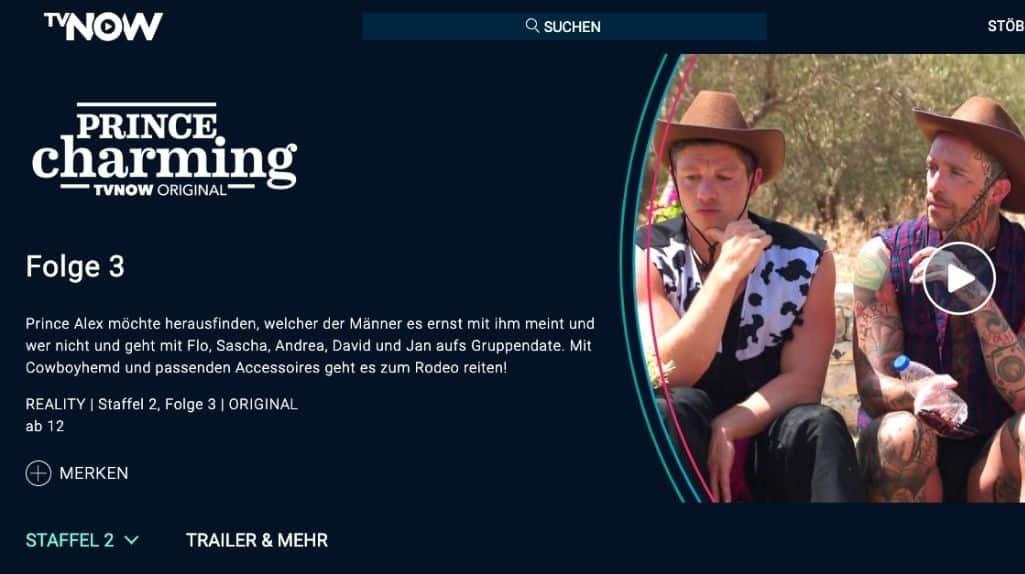 TVNOW im Ausland Prince Charming