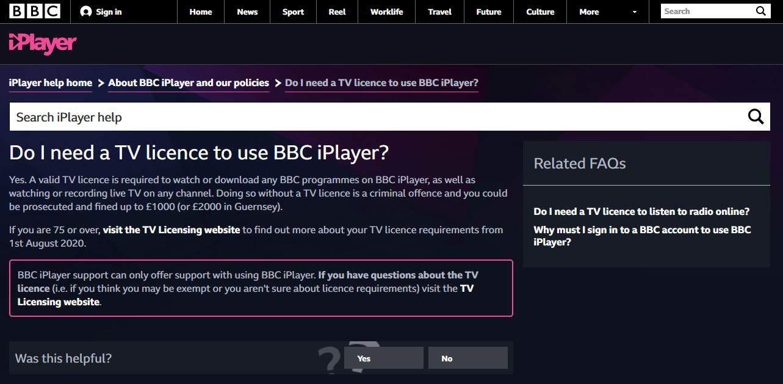 BBC Iplayer License