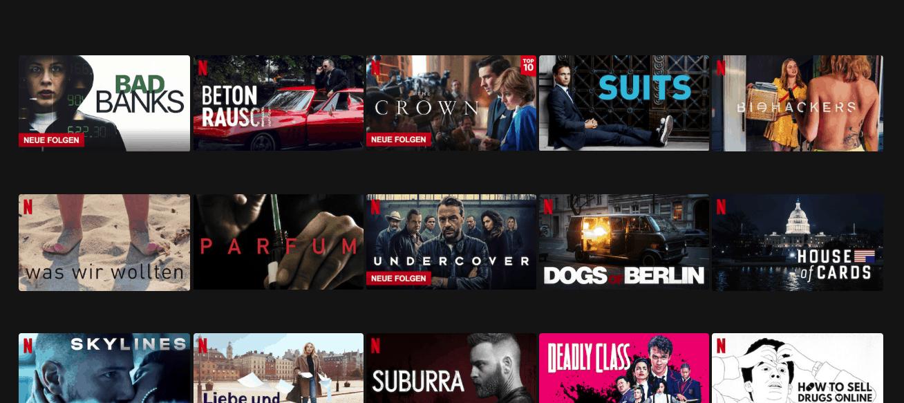 Deutsches Netflix Programm