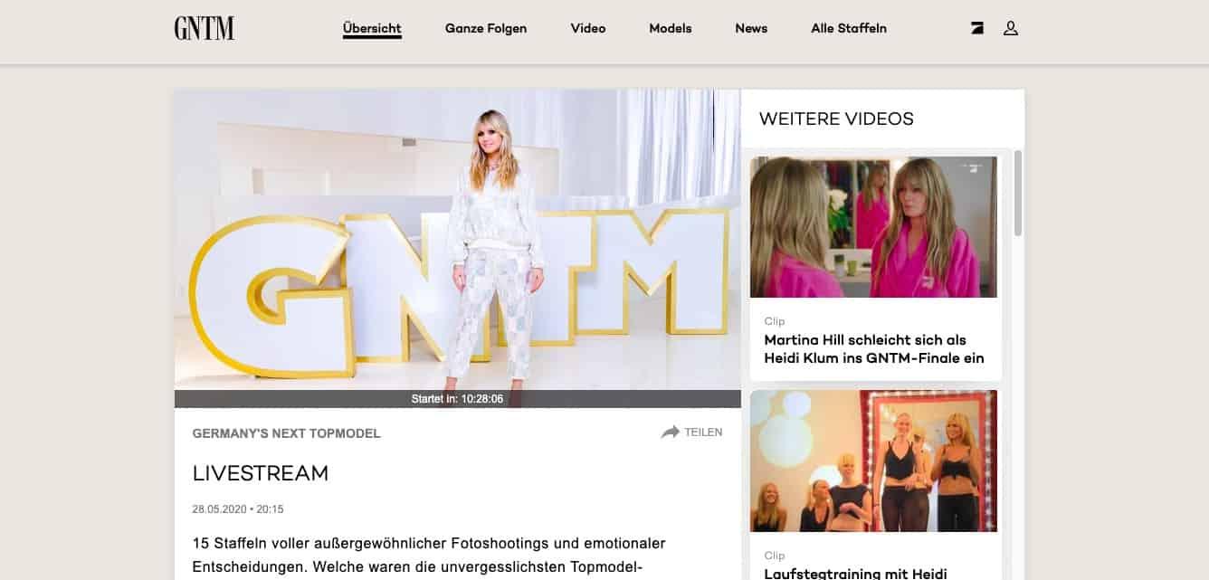 Germany's Next Top Model im Ausland Livestream