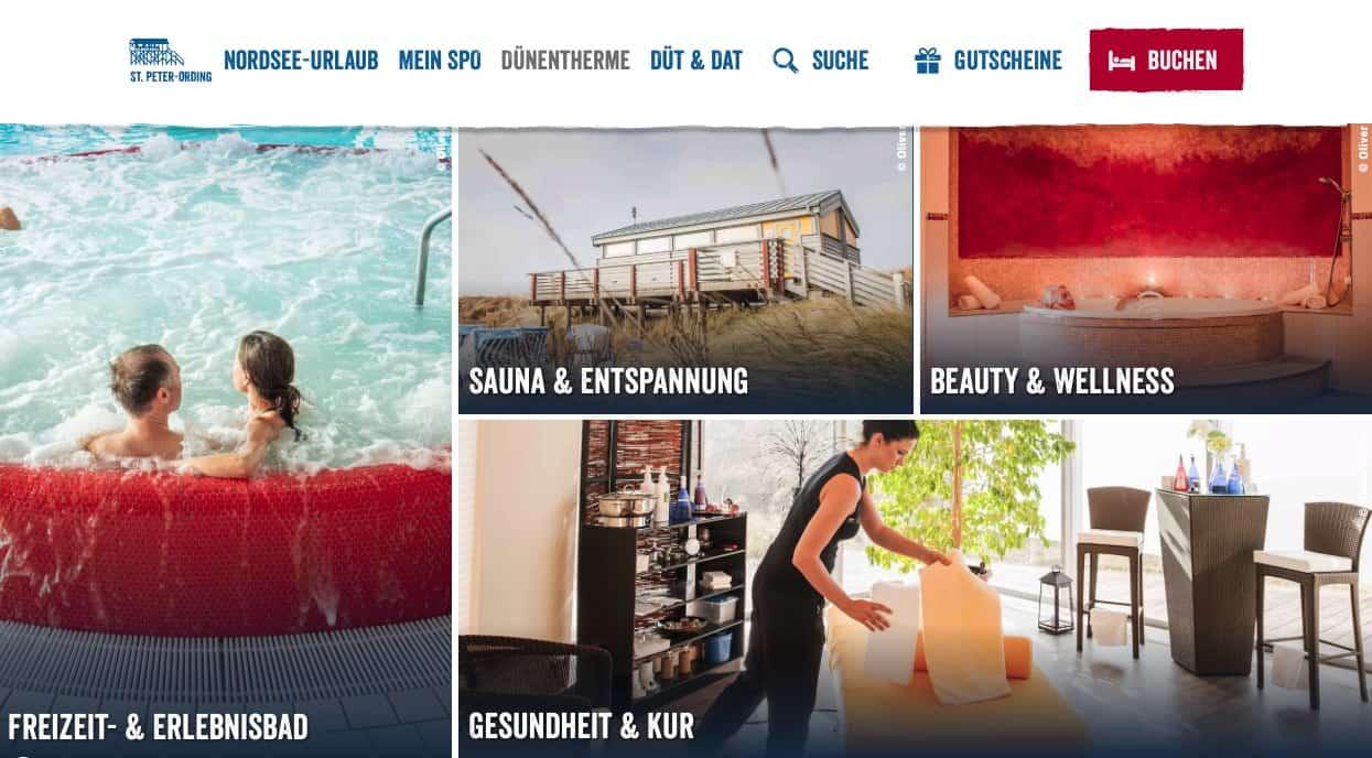 Sankt Peter Ording Duenentherme Webseite