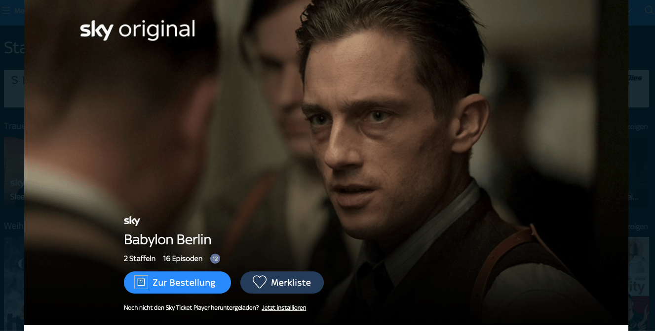 Sky Ticket Babylon Berlin