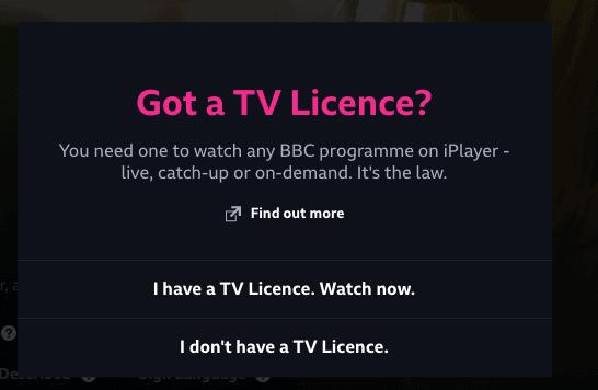 BBC iPlayer TV Licence