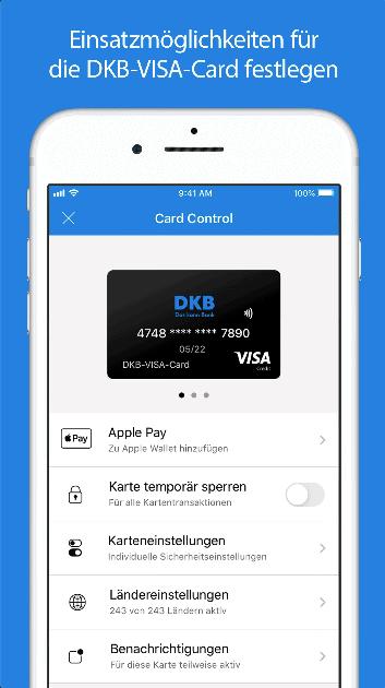 DKB Kreditkarte Ausland Mobile App Uebersicht
