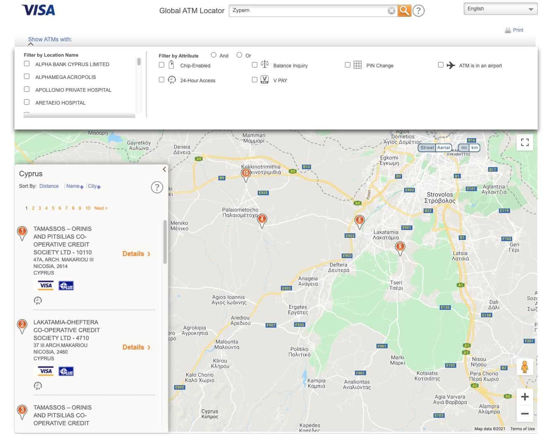DKB Kreditkarte Ausland VISA ATM Locator Zypern