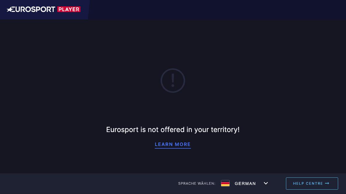 Eurosport Player Fehlermeldung