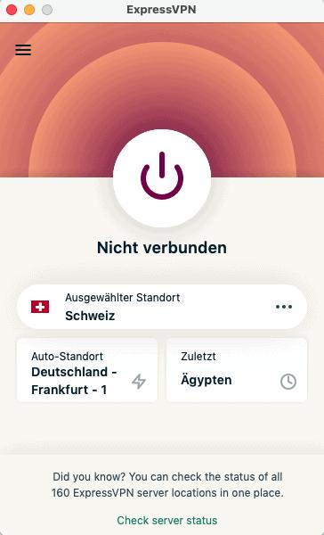 ExpressVPN Schweiz Server Nicht Verbunden